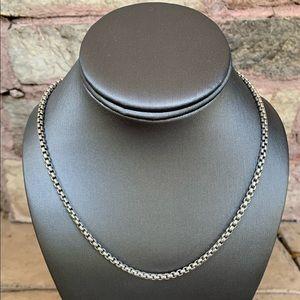 David Yurman Sterling Silver Medium Box Chain